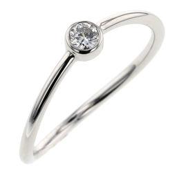 ティファニー TIFFANY&Co. ウェーブ シングルロウ リング・指輪  プラチナPT950/ダイヤモンド ダイヤモンド 6号 シルバー レディース R91218007