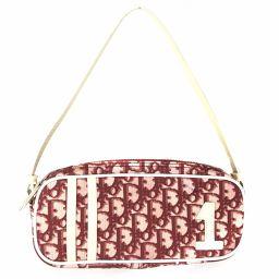 クリスチャンディオール Christian Dior ハンドバッグ トロッター  PVC/エナメル ホワイト レディース Z1102-15M