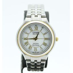 シチズン CITIZEN 腕時計  H335-T013597 エクシード エコドライブ  ステンレス/サファイヤガラス/GP レディース Z2649