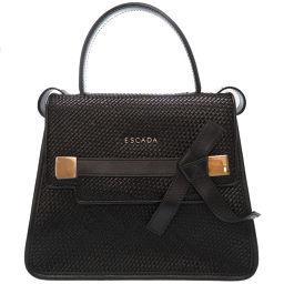 Escada ESCADA ML40 A001 5022711 Handbag Leather / Leather Black 0080 Ladies