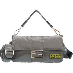 FENDI PORTER collaboration bucket 7VA472 shoulder bag nylon / nylon gray 0100 unisex