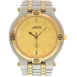 Gucci GUCCI quartz watch stainless steel / stainless steel gold 0007 men