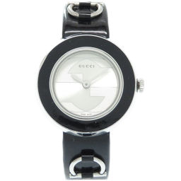Gucci GUCCI Quartz Youplay 129.5 Watch Stainless Steel / Patent Leather / Stainless Steel Silver 0008 Ladies