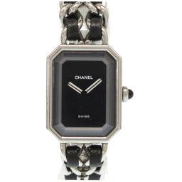 シャネルCHANEL クオーツ プルミエール 腕時計 ステンレススチール/レザー/ステンレススチール シルバー 0057 レディース