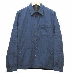 クロムハーツCHROME HEARTS CHプラス 刺繍 ジャケット ブルゾン コットン/コットン インディゴブルー 0049 メンズ