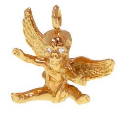 クロムハーツCHROME HEARTS ハリスティータ ペンダントトップ K22イエローゴールド/ダイヤモンド/K22イエローゴールド ゴールド 0153 メンズ