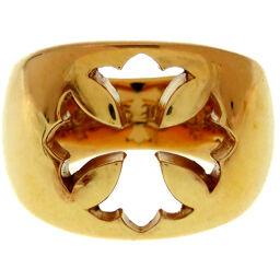 クロムハーツCHROME HEARTS NEGATIVE SPACE CH PLS リング・指輪 K22イエローゴールド/K22イエローゴールド 12号 ゴールド 0154 メンズ