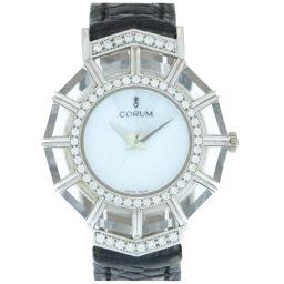コルムCORUM 手巻き ライムライト K18WG ダイヤベゼル 腕時計 クリスタル/K18ホワイトゴールド/ダイヤ ライトブルー 0213 レディース
