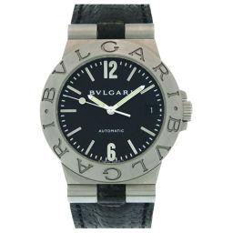 ブルガリBVLGARI 自動巻き ディアゴノ スポーツ LCV35S 腕時計 ステンレススチール/レザー/ステンレススチール ブラック 0235 メンズ