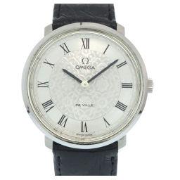 オメガOMEGA 手巻き デビル フラワーモチーフ 腕時計 ステンレススチール/型押しレザー/ステンレススチール シルバー 0242 メンズ