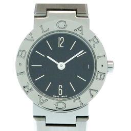ブルガリBVLGARI クオーツ ブルガリブルガリ 腕時計 ステンレススチール/ステンレススチール ブラック 0245 レディース