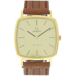 オメガOMEGA 手巻き デビル 腕時計 ステンレススチール/レザー/ステンレススチール ゴールド Cal.625刻印 0247 メンズ