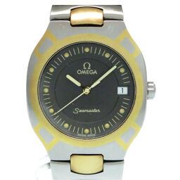 オメガOMEGA クオーツ シーマスター ポラリス コンビ 腕時計 ステンレススチール/K18イエローゴールド/ステンレススチール グレー 0039 メンズ