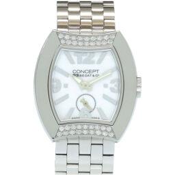 ベダ&カンパニーBEDAT&Co クオーツ コンセプト ダイヤベゼル CB03 腕時計 ステンレススチール/ダイヤモンド/ステンレススチール ホワイト 0068 レディース