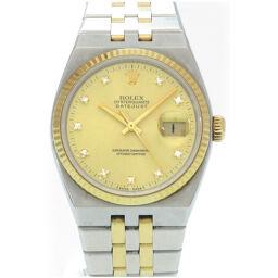 ロレックスROLEX クオーツ デイトジャスト 10Pダイヤ 17013G 腕時計 ステンレススチール/K18イエローゴールド/ダイヤモンド ゴールド 0003 メンズ