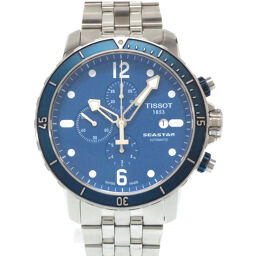 Tissot TISSOT Self-winding Seastar Chronograph Back Scale T066.427.11047.00 Watch Stainless Steel / Stainless Steel Blue 0041 Men's