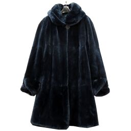 FENDI FENDI Shared Nutria Bal collar coat Nutria / Nutria Navy 0144 Ladies