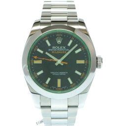 <html>    <body>   ロレックスROLEX 自動巻き ミルガウス 116400GV 腕時計 ステンレススチール/ステンレススチール ブラック 0035 メンズ        </body> </html>