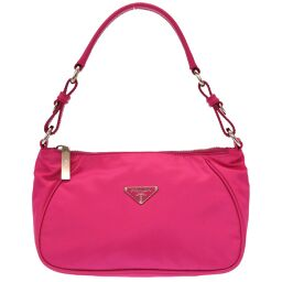 Prada PRADA Triangular Plate BR2741 Shoulder Bag Nylon / Nylon Pink 0052 Ladies