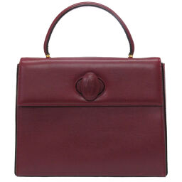 Cartier CARTIER Handbag Mastline Handbag Leather / Leather Bordeaux 0163 Ladies
