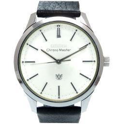 シチズンCITIZEN 手巻き クロノマスター 腕時計 ステンレススチール/レザー/ステンレススチール シルバー 0322 メンズ