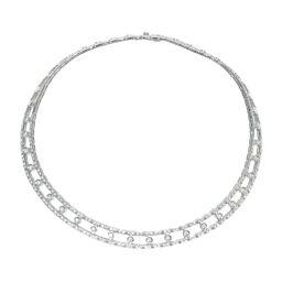 ダミアーニDamiani ハーフダイヤ ネックレス ネックレス ダイヤモンド/K18ホワイトゴールド シルバー 0444 レディース