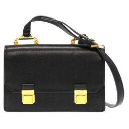 Miu Miu MIUMIU Shoulder Bag Shoulder Bag Leather / Madras Leather Black 0805 Ladies