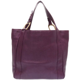 Gucci GUCCI 257051 Tote Bag Leather / Leather Purple 0022 Ladies