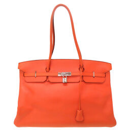 Hermes HERMES Birkin 45 Handbag Taurillon Clemence / Taurillon Clemence Orange □ D Engraved 0047 Ladies