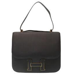 Hermes HERMES Constance 3 29 Cartable Handbag Sombrero / Sombrero Blue Obscur A Engraved 0050 Ladies