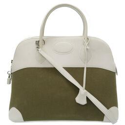 Hermes HERMES Bored 37 Handbags Toiles Becieres / Vaux Swift / Toiles Becieres □ K Engraved 0064 Ladies