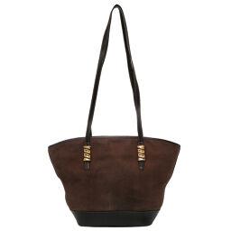 Loewe LOEWE Twist Vintage Tote Bag Leather / Leather Brown 0085 Ladies