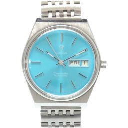 <html>    <body>   オメガOMEGA 自動巻き シーマスター リダンダイヤル 腕時計 ステンレススチール/ステンレススチール ターコイズブルー 0007 メンズ        </body> </html>
