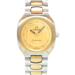 Omega OMEGA Quartz Seamaster Polaris Watch Stainless Steel / K18 Yellow Gold / Stainless Steel Gold 0010 Ladies