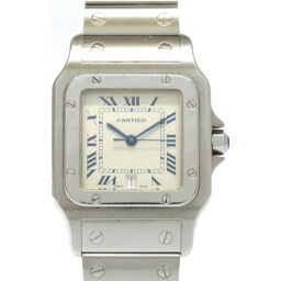 Cartier CARTIER Quartz Santos Galve LM Watch Stainless Steel / Stainless Steel Beige 0004 Ladies
