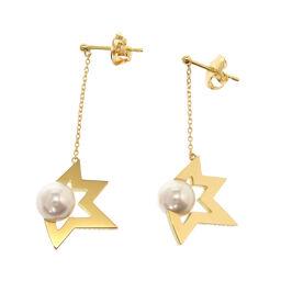 Tasaki TASAKI Comet Plus Earrings Earrings K18 Yellow Gold / Pearl / K18 Yellow Gold Gold 0017 Ladies