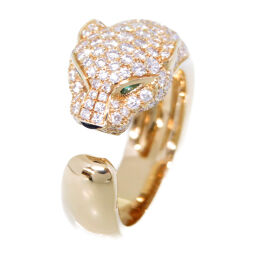 Cartier CARTIER Panther Ring Panther Ring / Ring Diamond / K18 Yellow Gold / K18 Yellow Gold Gold 0006 Ladies