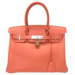 Hermes HERMES Birkin 30 Handbag Vaux Swift / Swift Rosie □ L Engraved 0016 Ladies