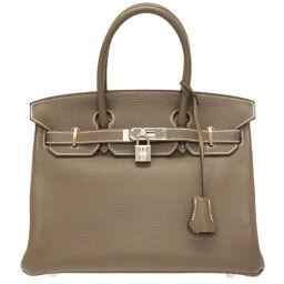 Hermes HERMES Birkin 30 Handbag Taurillon Clemence / Taurillon Clemence Etup □ R Engraved 0019 Ladies