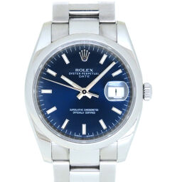 Rolex ROLEX Automatic Oyster Perpetual Date 115200 Watch Stainless Steel / Stainless Steel Navy 0045 Men's