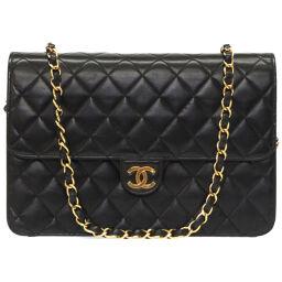 Chanel CHANEL Matrasse Chain Shoulder Bag Vintage Shoulder Bag Lambskin / Lambskin Black 0031 Ladies