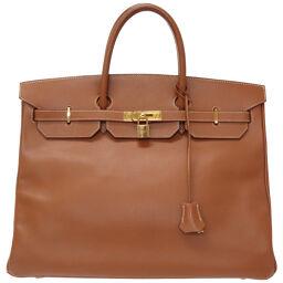 Hermes HERMES Birkin 40 Handbag Kushbel Gold □ C Engraved 0049 Men's