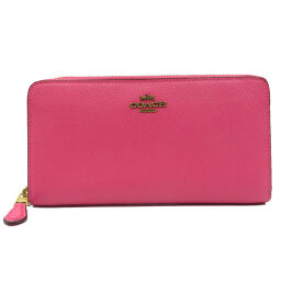 Coach COACH Long Wallet Leather / Leather Pink 0002 Ladies