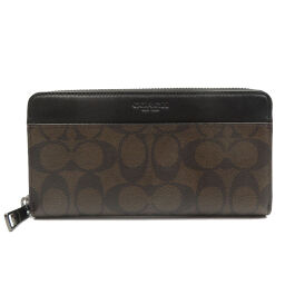 Coach COACH Signature F58112 Long Wallet Leather / Leather Brown 0003 Men's