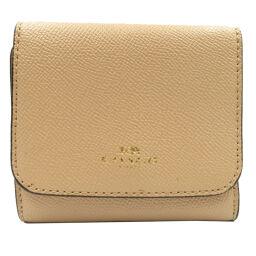 Coach COACH Bi-Fold Wallet Leather / Leather Beige 0014 Ladies