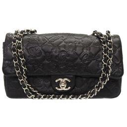 Chanel CHANEL Icon Bag Matrasse Coco Mark Turn Lock Shoulder Bag Leather / Leather Black 0068 Ladies