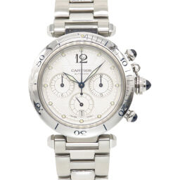 Cartier CARTIER Automatic Pasha 38mm Chronograph W31030H3 Watch Stainless Steel // Stainless Steel Silver 0091 Men's