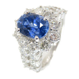 No brand no brand sapphire diamond Pt900 ring ring ring sapphire / Pt900 platinum / diamond 11.5 0098 Ladies
