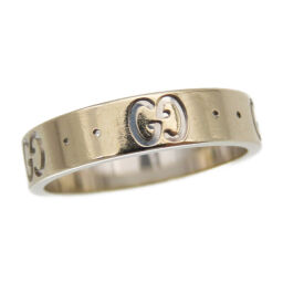Gucci GUCCI Ring / Ring K18 White Gold No. 9 Silver 0136 Ladies