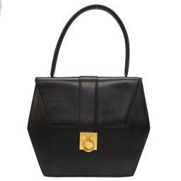 Celine CELINE Vintage Handbag Leather / Leather Black 0084 Ladies